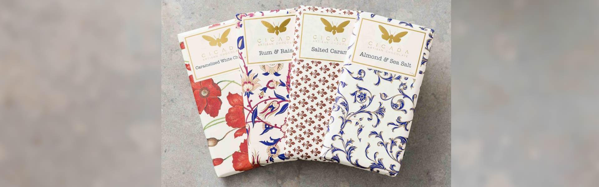 チョコレート蝉を包む装飾紙