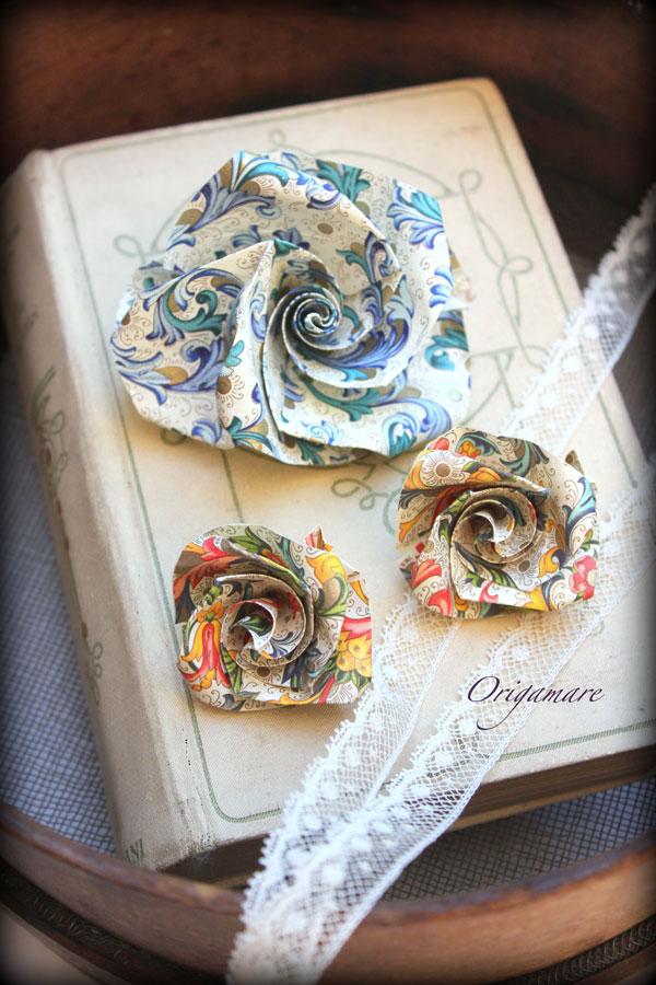 Origamare 折り紙のバラ Rossi1931
