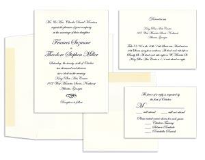 装飾紙での結婚式の招待状Rossi1931